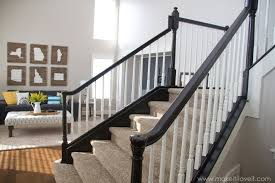 Gel Stained Banisters