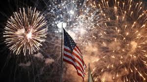 flag fireworks